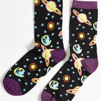 Neon Space Sock | Urban Outfitters