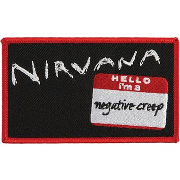 Nirvana Men's Negative Creep Embroidered Patch Red