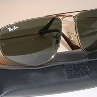 VINTAGE B&L RAY-BAN W1083 G15 ARISTA GP FASHION METALS III 3 AVIATOR SUNGLASSES