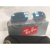 Cheap Ray Ban 3025 Aviator RB 003/3F 58mm Silver Frame with Blue Gradient Medium New!