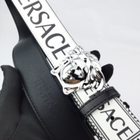 Versace Fashion casual men and women for the wild print head avatar belt