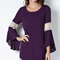 Midnight Purple Crochet Dress