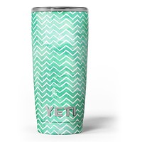 Green Watercolor Pattern - Skin Decal Vinyl Wrap Kit compatible with the Yeti Rambler Cooler Tumbler Cups