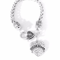 Crystal Color Guard Marching Band Gift For Daughter Her Charm Bracelet