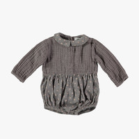 Tocoto Vintage Baby Girl Body Star Printed in Grey - W4115