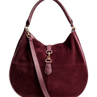 H&M Hobo Bag with Suede Details $59.99