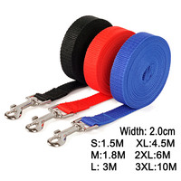 VEQSKING Nylon Dog Training Leashes Pet Supplies Walking Harness Collar Leader Rope For Dogs Cat 1.5M 1.8M 3M 4.5M 6M 10M