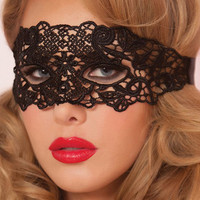 1PC Black Sexy Lace Mask Cutout Eye Mask For Halloween Masquerade Party Fancy Dress Costume Anonymous Mask Venetian Carnival