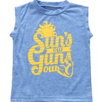 Toddler Boy Suns Out Guns Out Tank