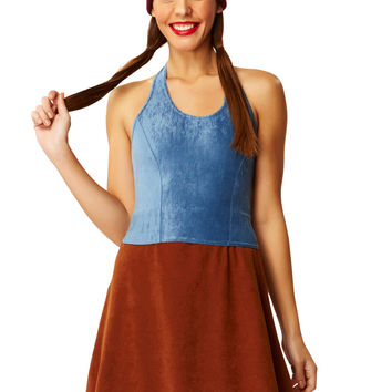 After Party Brown Suede Mini Skirt