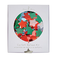 Star Confetti Christmas Balloon Kit