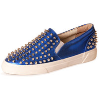 Spike Studded Faux Slip-Ons Flat Shoes