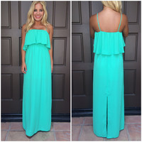 Spent In The Sun Maxi Dress - Irish Green