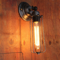 Vintage Metal Tubular Wall Lamp Max 60W with 1 Light Painted Finish