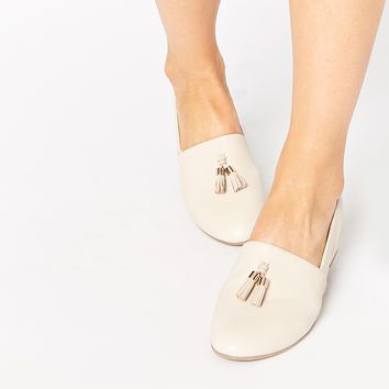 ALDO Acoania Off White Tassel Loafer Flat Shoes
