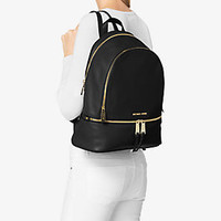 Rhea Large Leather Backpack | Michael Kors