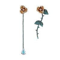Betsey Johnson Patina Gold Flower Non-Matching Earrings Patina - Zappos.com Free Shipping BOTH Ways