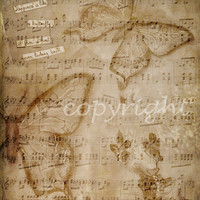 Vintage paper music for scrapbooking