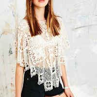 Free People Bad Romance Crochet Top in Ivory - Urban Outfitters