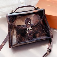 Louis Vuitton LV Newest Women Shopping Hndbag Tote Transparent Jelly Bag Shoulder Bag Satchel Crossbody
