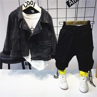 Toddler Infant Kids Baby Boys Clothes Sets denim jacket + T-shirt +pants Spring&Autumn Outfit Clothing Set 2-6years