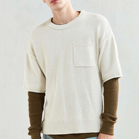 UO Cotton Crew Neck Short Sleeve Sweater - Urban Outfitters