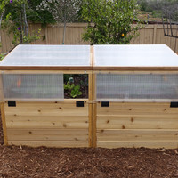 Raised Bed 6x3 Mini Greenhouse Kit