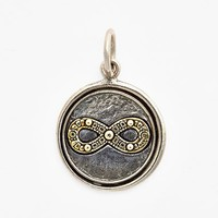 Women's Waxing Poetic 'Wing and a Prayer - Infinity Symbol' Charm - Silver And Brass Infinity