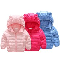 Baby Girls Coat & Jacket Children Outerwear winter Hooded coats Winter Jacket Fashion Kids Coat children's Warm Girls clothing