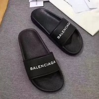 Balenciaga Women Leather Fashion Slipper Sandals Shoes-2