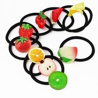 New Summer Style Small Size Fruits Slice Fashion Hair Accessories for Girls Kids Women Elastic Hair Bands Rubber Bands Headwear
