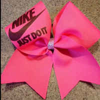 Nike just do it pink cheer bow