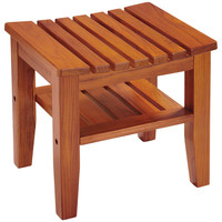 Conair Solid-teak Spa Bench With Shelf