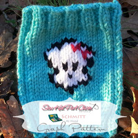 GRAPH PDF KNITTING PATTERN: Monster High Skull Grid Pattern to Use When Knitting Small to Large Projects