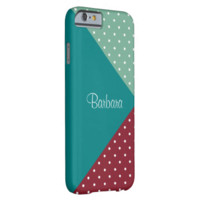 Monogram Teal Red Spearmint Green Dots Color Block iPhone 6 Case