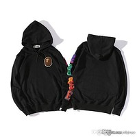Black Men's Hoodie Casual Sweater Fashion Brand Long Sleeve Coat Hoodie Size M-2XL With Top Quality