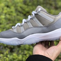 Air Jordan 11 Low Cool Grey 2018  Basketball Sneaker