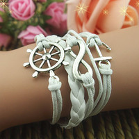 Act the role ofing is tasted romantic password retro the rudder anchor hand woven leather rope leather bracelets