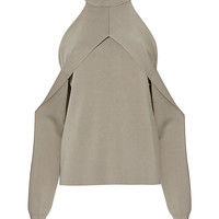 Dion Lee Cold Shoulder Taupe Evening Sweater - INTERMIX®