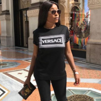 Versace Womens Fashion Cotton T-shirt