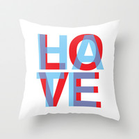 Love Hate Throw Pillow by Tchea-ster