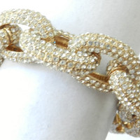 Pave chunky chain bracelet. Personalized.