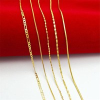new Hot sale plated Gold chain necklace for baby child super deal free shipping girl jewelry new fashion necklace YFB066
