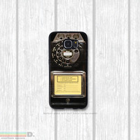 VIntage Payphone, Custom Phone Case for Galaxy S4, S5, S6