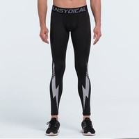 Men compression pants jogger long tights pants exercise fitness skinny leggings trousers