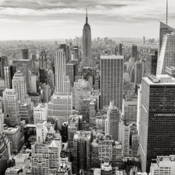 Skyline Manhattan City New York USA - 3 Panel Framed Gallery Wrapped Canvas Wall Art Printed Painting - Free Global Shipping