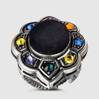 Gucci - ring with velvet and Swarovski crystals 404803I58968518