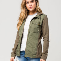 ASHLEY Knit Sleeve Womens Jacket | Jackets