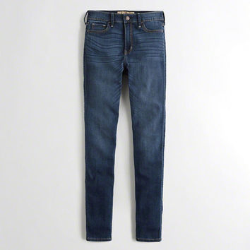 Girls Stretch High-Rise Super Skinny Jeans | Girls Bottoms | HollisterCo.com