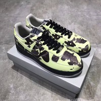"""""""Nike Air Force 1"""" Unisex Fashion Luminous Camouflage Low Help Plate Shoes Couple Casual Thick Bottom Platform Sneakers"""